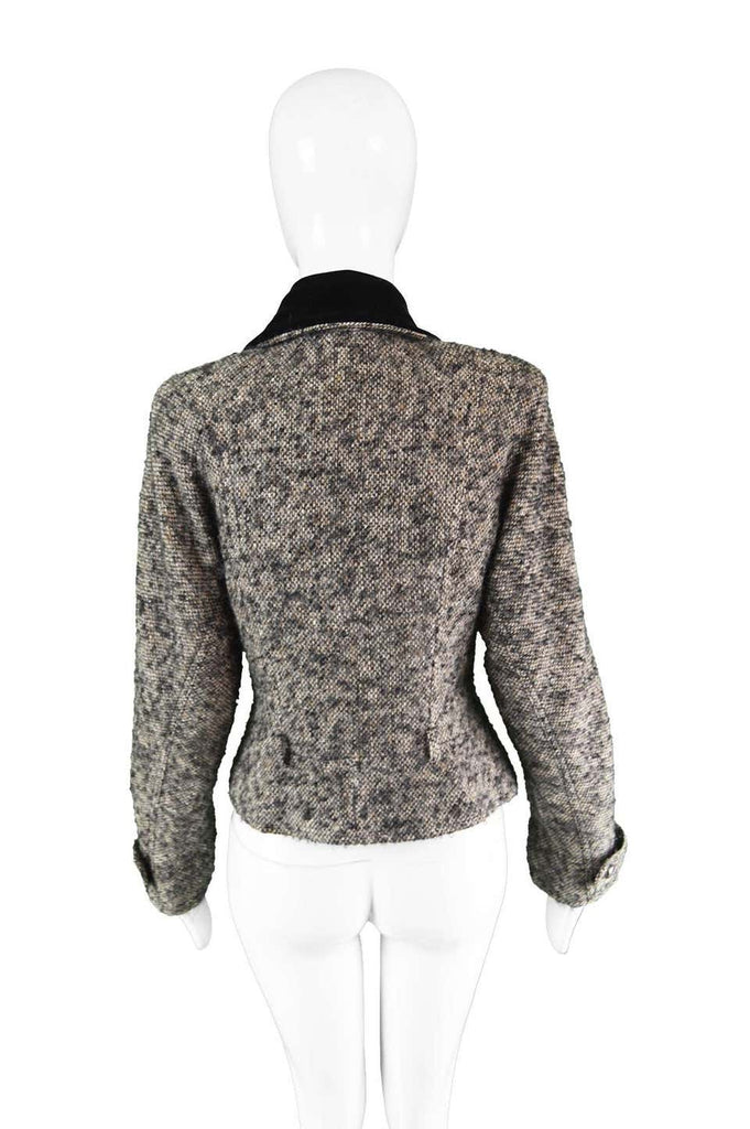 by Karl Lagerfeld Vintage Wool & Velvet Tailored Jacket, 1980s