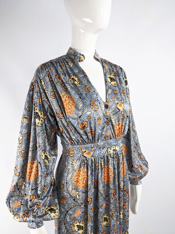 Vintage Bohemian Balloon Sleeved Maxi Dress, 1970s