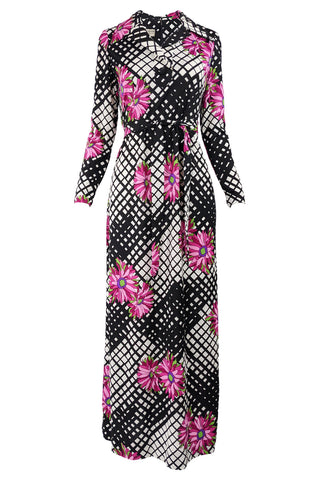 Vintage Psychedelic Patterned Maxi Dress, 1970s