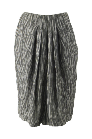 Vintage Textured Pleated Wool Gauze Skirt, 1990s