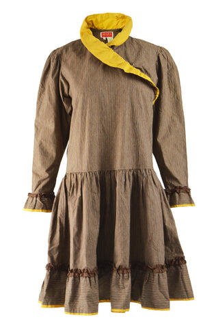Womens Vintage Corduroy Trapeze Dress A/W 1981