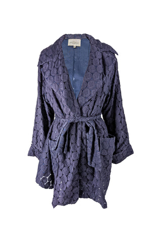 Vintage Semi Sheer Lace Cutout Opera Coat, S/S 1991