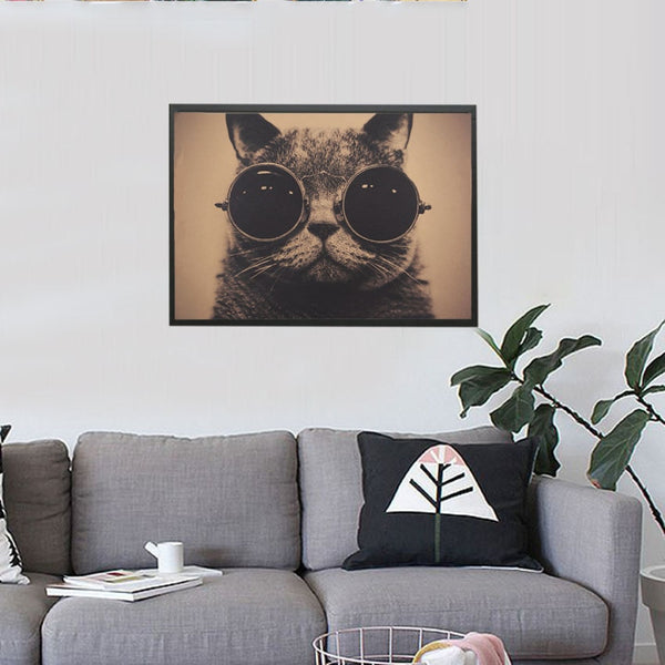 Cool Handsome Cat Wall Poster Pet Accessories My Fond Pets