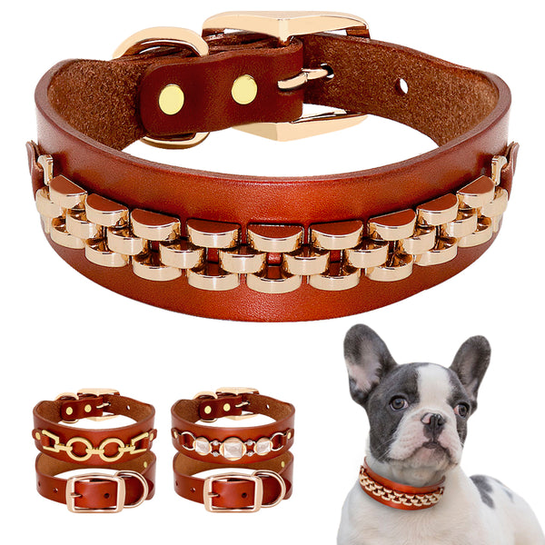 Leather Dog Collar Pets Collars My Fond Pets
