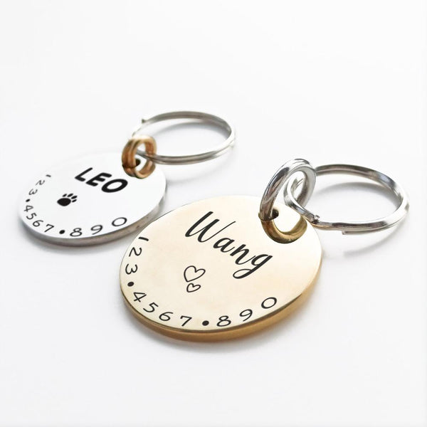 Customised Cat and Dog Collar ID Tag Pets Collars My Fond Pets