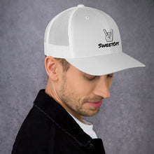 "Load image into Gallery viewer, ""SweetOps"" Trucker Cap with ""Rock On"" Hand"
