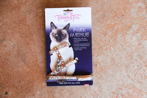 PARK AVENUE CAT HARNESS GOLD
