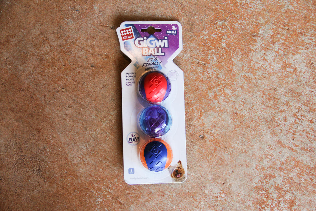 GIGWI BALL MEDIUM 2PACK