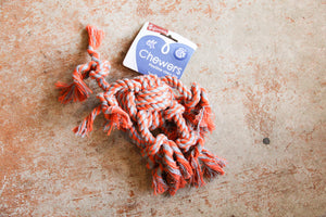 CHEWERS ROPE OCTOPUS ORANGE