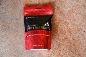 FREEZE DRIED LAMB HEARTS 100G
