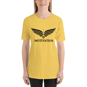 Camiseta de manga corta logo negro Motivation Mujer