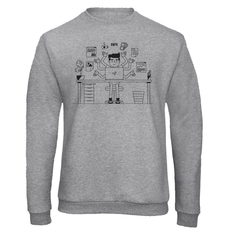 Working From Home Multitasking Man Sweatshirt