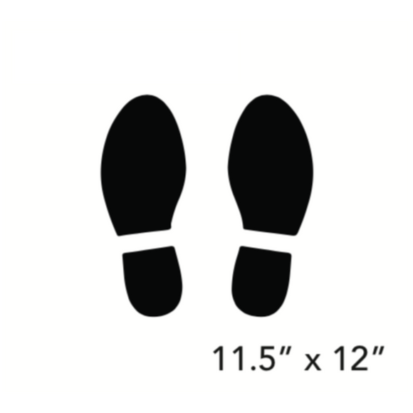 Black Footprints (Floor Decal) [100-26]