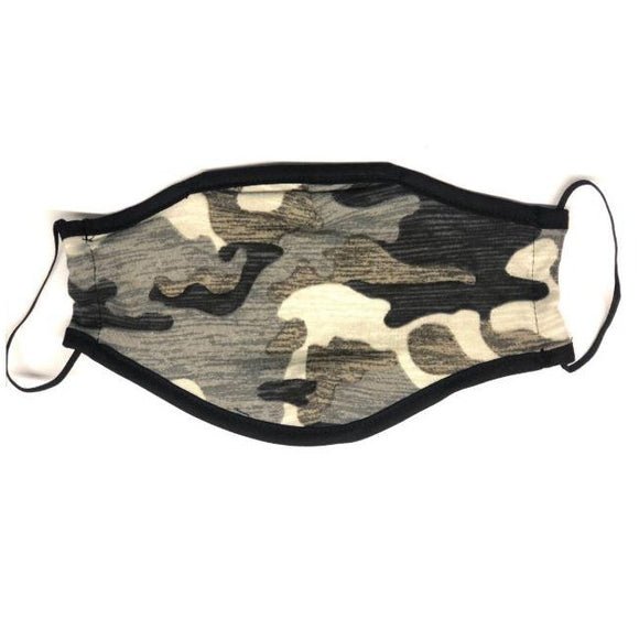 Reusable Face Mask (Light Green Camo) (Packs of 100/250/500/1500)