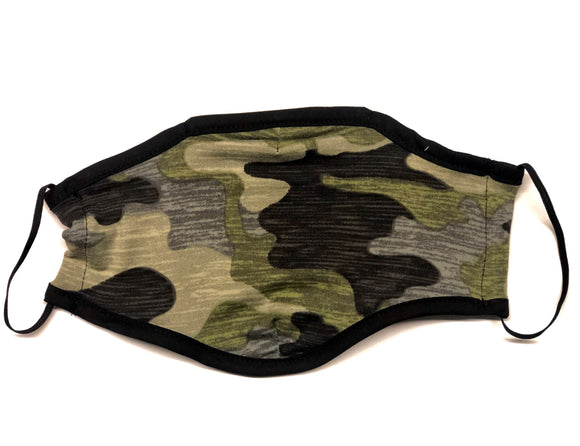 Reusable Face Mask (Dark Green Camo) (Packs of 100/250/500/1500)