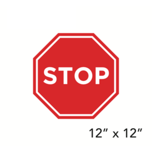 """STOP"" Stop Sign Shape (Wall Decal) [201-07/202-07]"