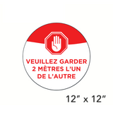 """Please Keep 2 Metres Apart"" Circle (Floor Decal) [101-03/102-03]"