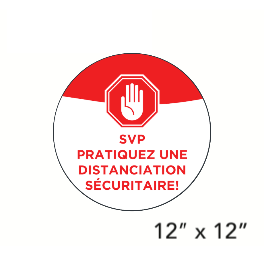 """Please Practice Safe Distancing!"" Circle (Floor Decal) [101-04/102-04]"