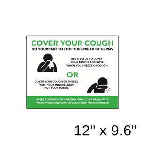 """Cover Your Cough"" 2-Part Diagram (Wall Decal) [201-12]"
