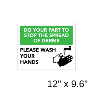 """Please Wash Your Hands"" Diagram (Wall Decal) [201-17/202-17]"