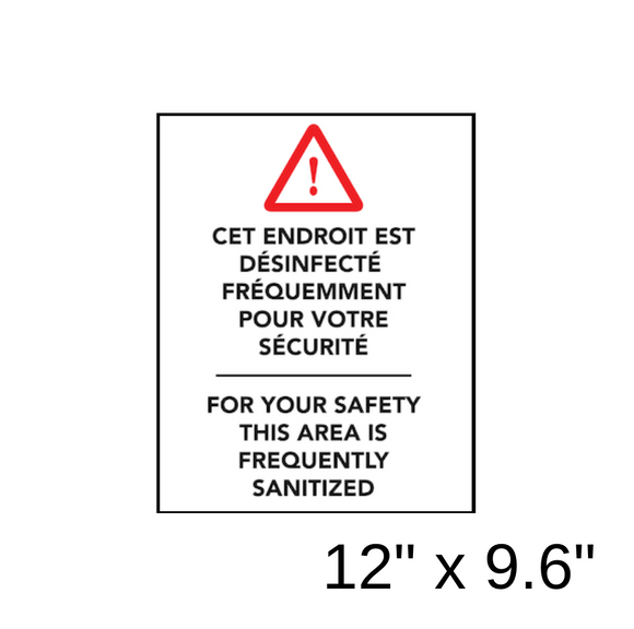 Hazard Triangle With Bilingual Wording (Wall Decal) [203-14]