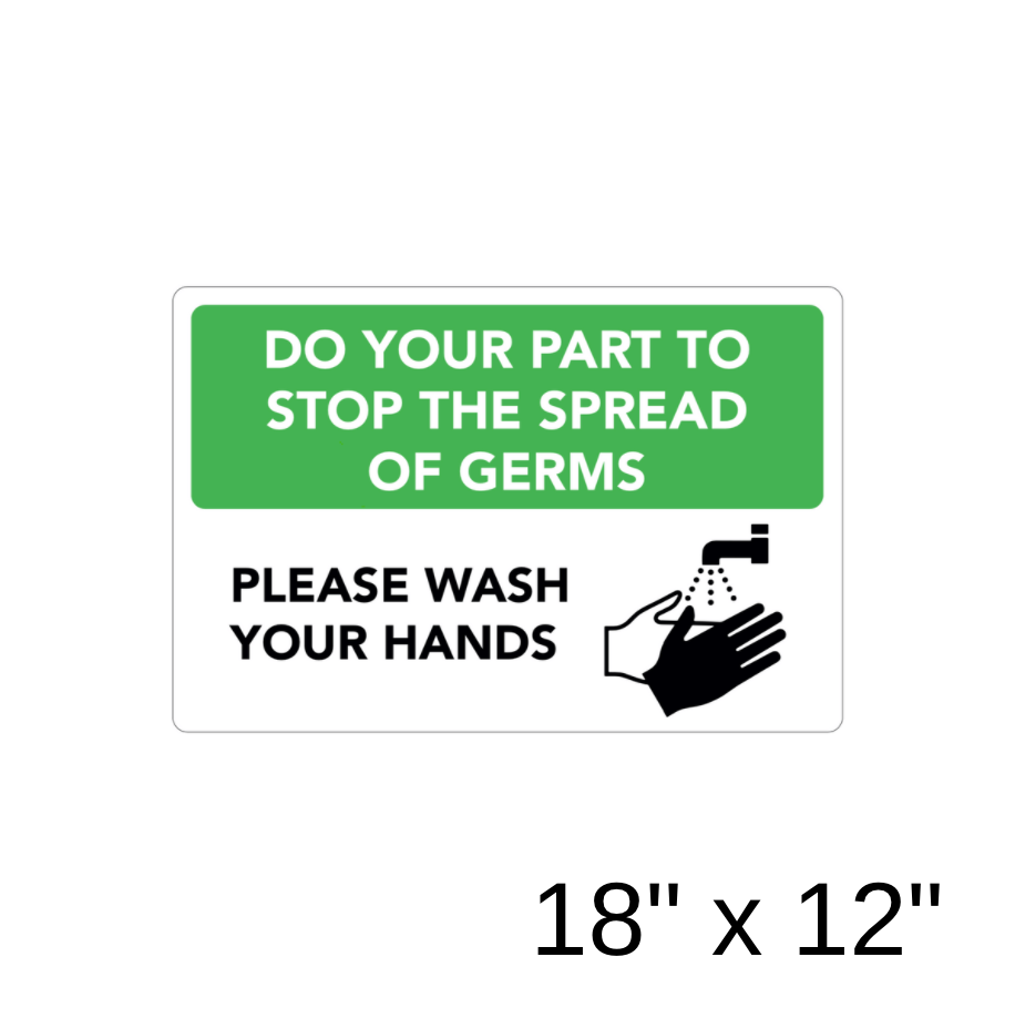 """Please Wash Your Hands"" Diagram (Aluminum Sign) [301-17]"