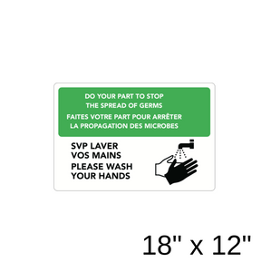 """Please Wash Your Hands"" Bilingual Diagram (Aluminum Sign) [303-17]"
