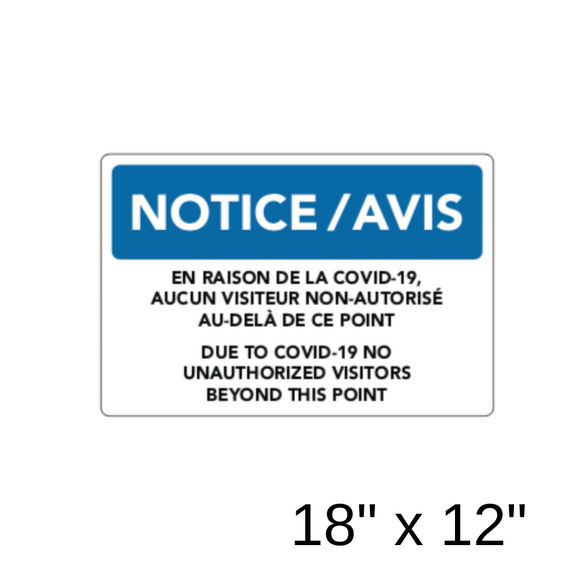 Notice 2 Bilingual (Aluminum Sign) [303-36]