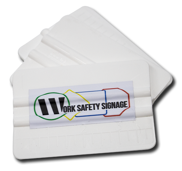 WorkSafetySignage Squeegee/Hand Applicator