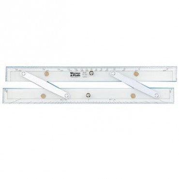 "Weems & Plath 15"" Parallel Rulers with Protractor Scale"