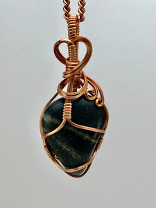#024 Black Protection Stone with Quartz Veins