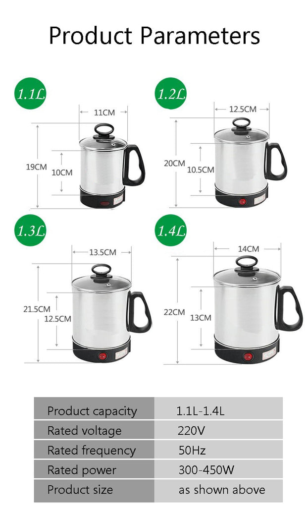 Multi Cooker Electric Skillet Stainless Steel Heating Cup - Galaxy Food Equipment