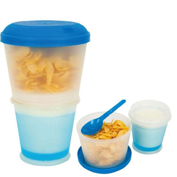 Creative Breakfast Cup With Lid Foldable Spoon - Galaxy Food Equipment