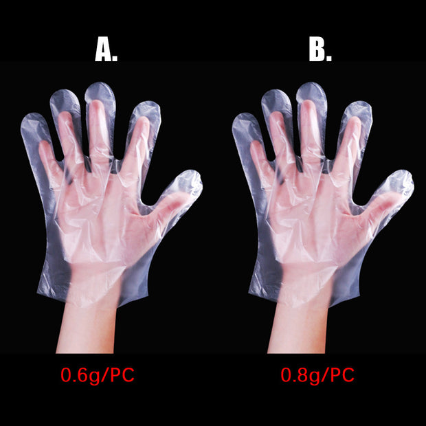 Protective Plastic Disposable Gloves - Galaxy Food Equipment