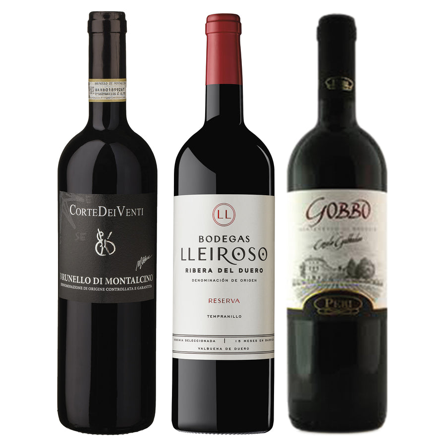 Wine Package Luxury 3-Pack - Italian and Spanish Red Wine distributed by Beviamo International in Houston, TX