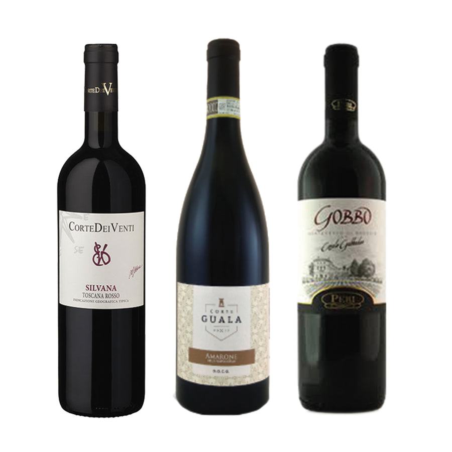 Wine Package Luxury 3-Pack - Italian  Red Wine distributed by Beviamo International in Houston, TX