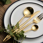 Gold luxury flatware set