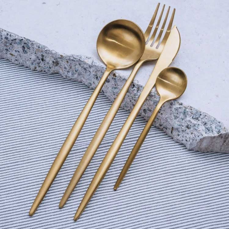 Gold flatware stainless