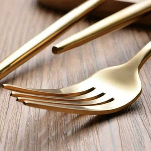 Gold fork flatware