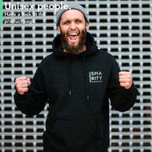 Laden Sie das Bild in den Galerie-Viewer, #sharity Hoodie Black // Unisex