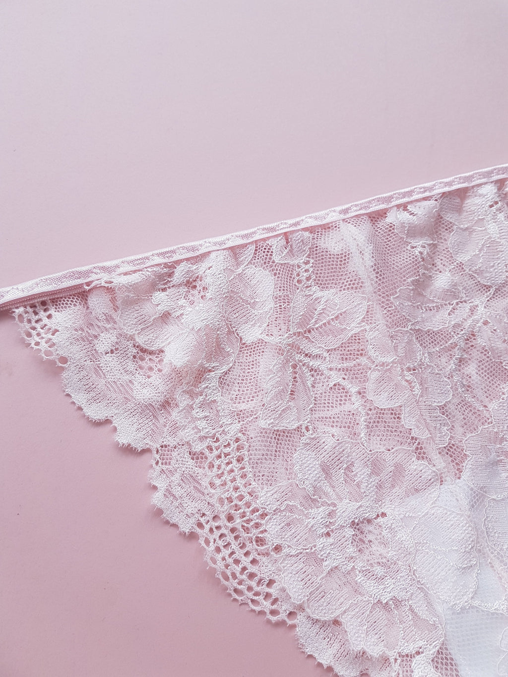 Peachy Pink Floral Lace Knickers