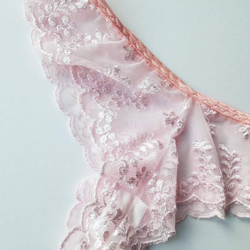 Isabella Pale Pink Floral Lace Knickers