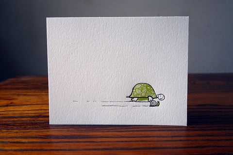 Turtle and Snail Card
