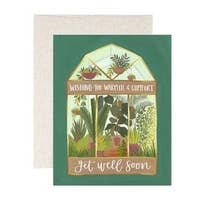 1canoe2 Greenhouse Get well Card