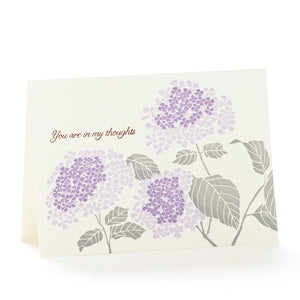Ilee Papergoods Card - Hydrangea You're in My Thoughts