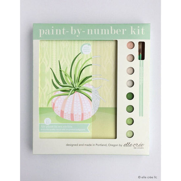 elle crée Paint-by-Numbers Kit - Air Plant in Sea Urchin