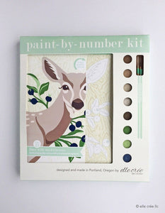 elle crée Paint-by-Number Kit - Deer with Huckleberries