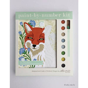 elle crée Paint-by-Number Kit - Fox with Chicory