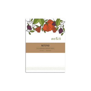 Hazelmade Notepad - Red Florals