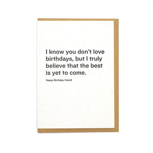 Constellation & Co. Card - Best Is Yet To Come Birthday